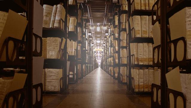Ilustrasi Perpustakaan Rahasia Vatikan