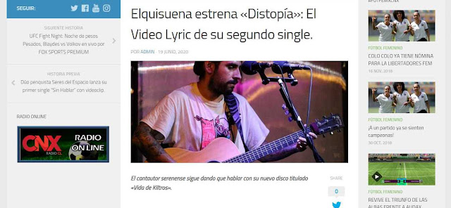 NOTA AL NUEVO SINGLE DISTOPIA EN CNX RADIO