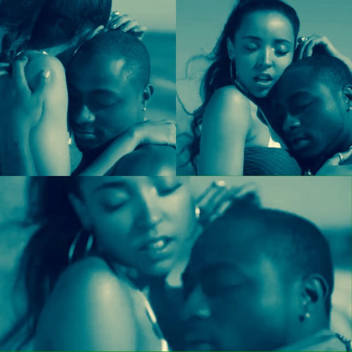 That look though: Davido's face during music video recording with American singer Tinashe