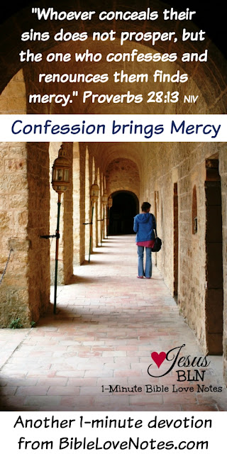 confessing sin, not concealing our sins