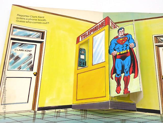 SUPERMAN - Un libro Pop UP  1979 - Editorial Norma - Libros animados Ib Penick