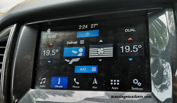 Ford Philippines - pickup trucks Ford Media Drive Bacolod - Ford Ranger pickup review - Ford Ranger Wildtrak - Ford Ranger XLT - Ranger Raptor - road trip - Bacolod blogger - Don Salvador Benedicto - dashboard - climate control