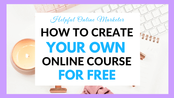 Create online course for free