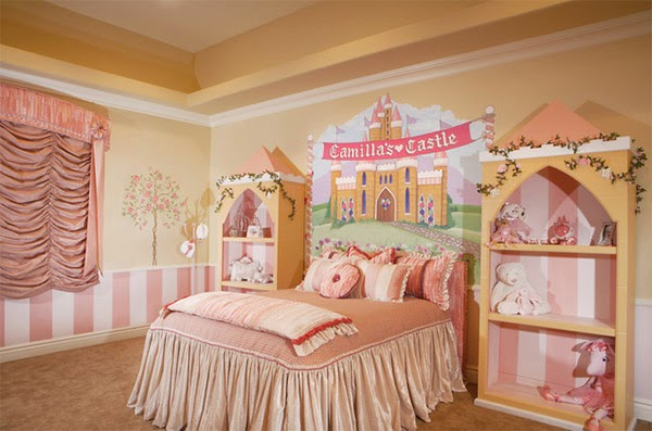 Dormitorios para ni as tema princesas dormitorios - Cama princesa nina ...