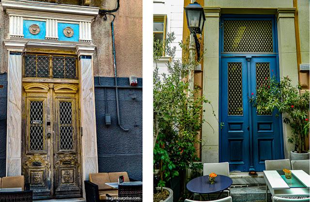 Cafés ao ar livre em Atenas e Nafplio, Grécia