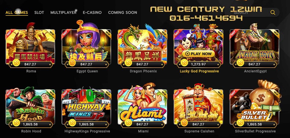 New Century 12win Online Casino Malaysia Joker123 Slot Online