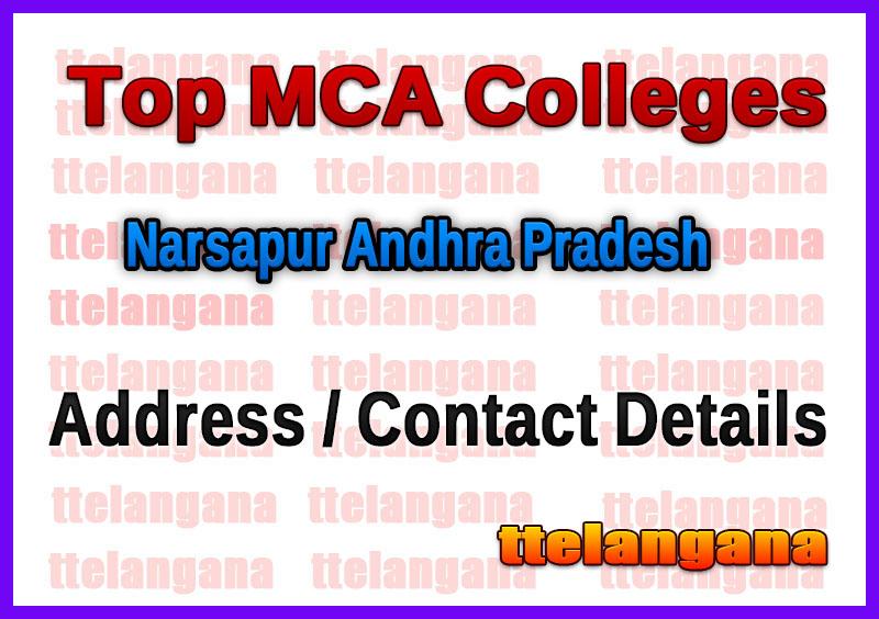 Top MCA Colleges in Narsapur Andhra Pradesh