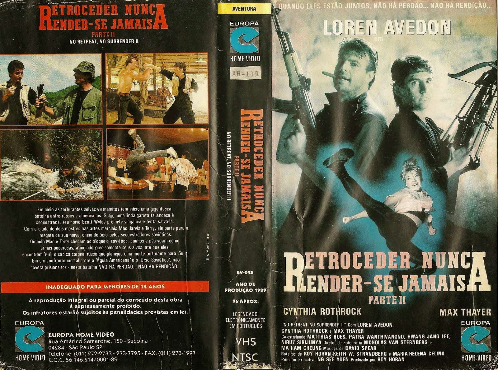 Resultado de imagem para Retroceder Nunca,Render se Jamais 2 (1987)