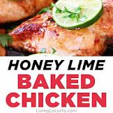 Honey Lime Baked Chicken