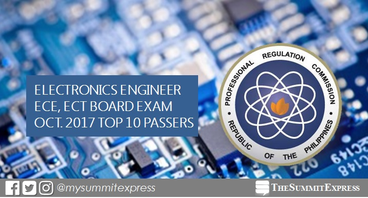 TOP 10 PASSERS: October 2017 ECE, ECT board exam results