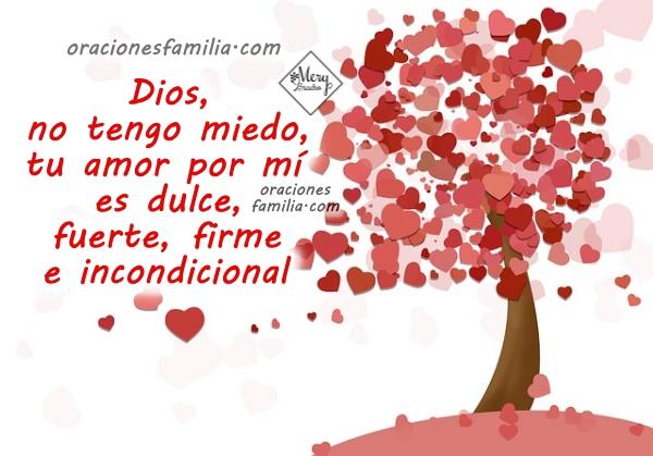 imagen oracion de la noche no hay temor Dios me ama