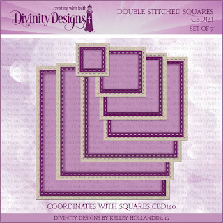 Divinity Designs LLC Double Stitched Squares Dies