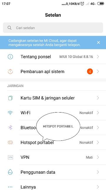 Cara Menghidupkan Hotspot Wifi Dan Mengatur  Pasword Hotspot Wifi Di Android Xiomi