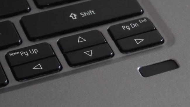 4 arrow keys of Acer Swift 3 SF314-57 laptop keyboard.