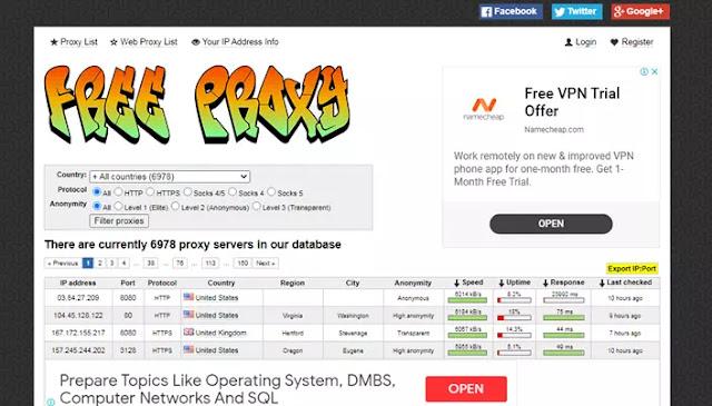 Daftar Server Proxy Gratis Terbaik-1