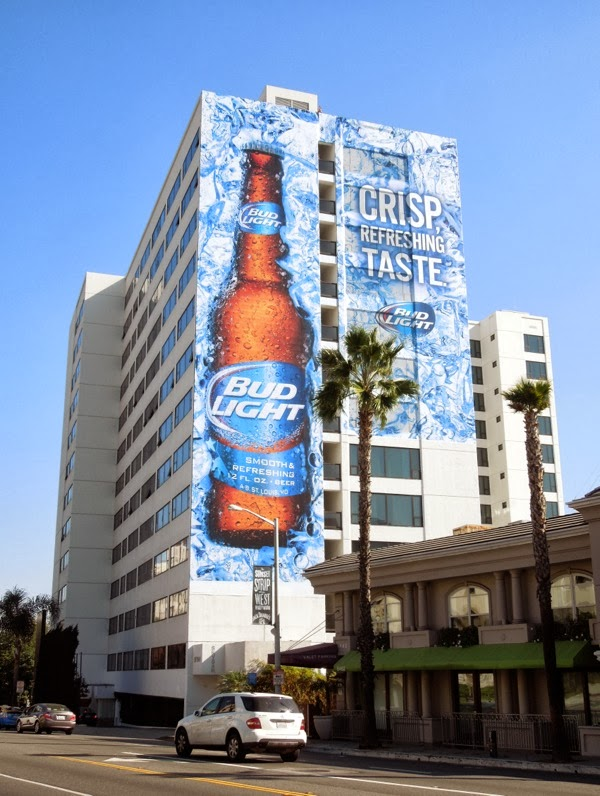 Bud Light Crisp Taste billboard Mondrian Hotel