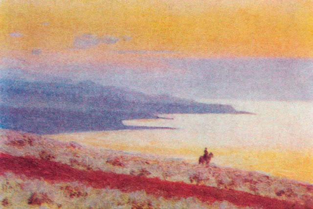 Василий Васильевич Верещагин - Озеро Иссык-Куль вечером. 1870
