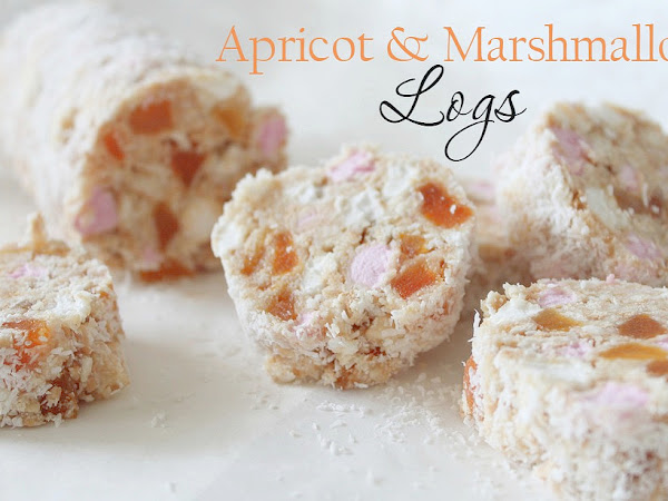 Apricot and Marshmallow Logs