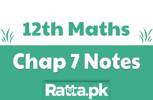 2nd Year Maths Chapter 7 Notes Vectors pdf download