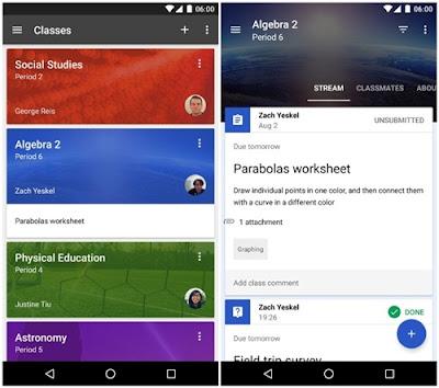 aplikasi keperluan guru classroom
