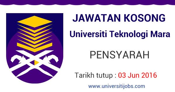 Jawatan Kosong Pensyarah Universiti Teknologi MARA