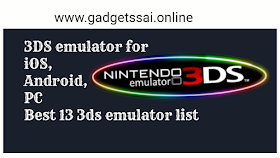 3DS emulator for Laptop/PC on Windows 8/10/8.1/7/XP/Vista & Mac Laptop
