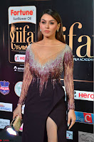 Hansika Motwani in Glittering Deep Neck Transparent Leg Split Purple Gown at IIFA Utsavam Awards 28.JPG