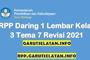 RPP Daring 1 Lembar SD/MI Kelas 3 Tema 7 Revisi 2021