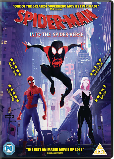Cartel en inglés de la película Spider-Man: Into the spider-verse