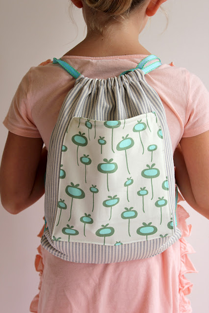 draw string back pack tutorial