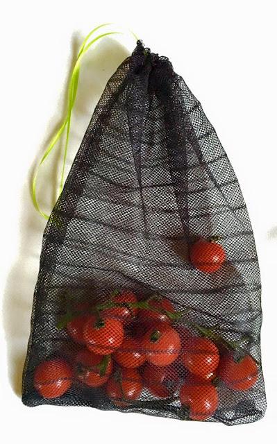 Selbstgenähte Gemüsebeutel aus Fliegengittern