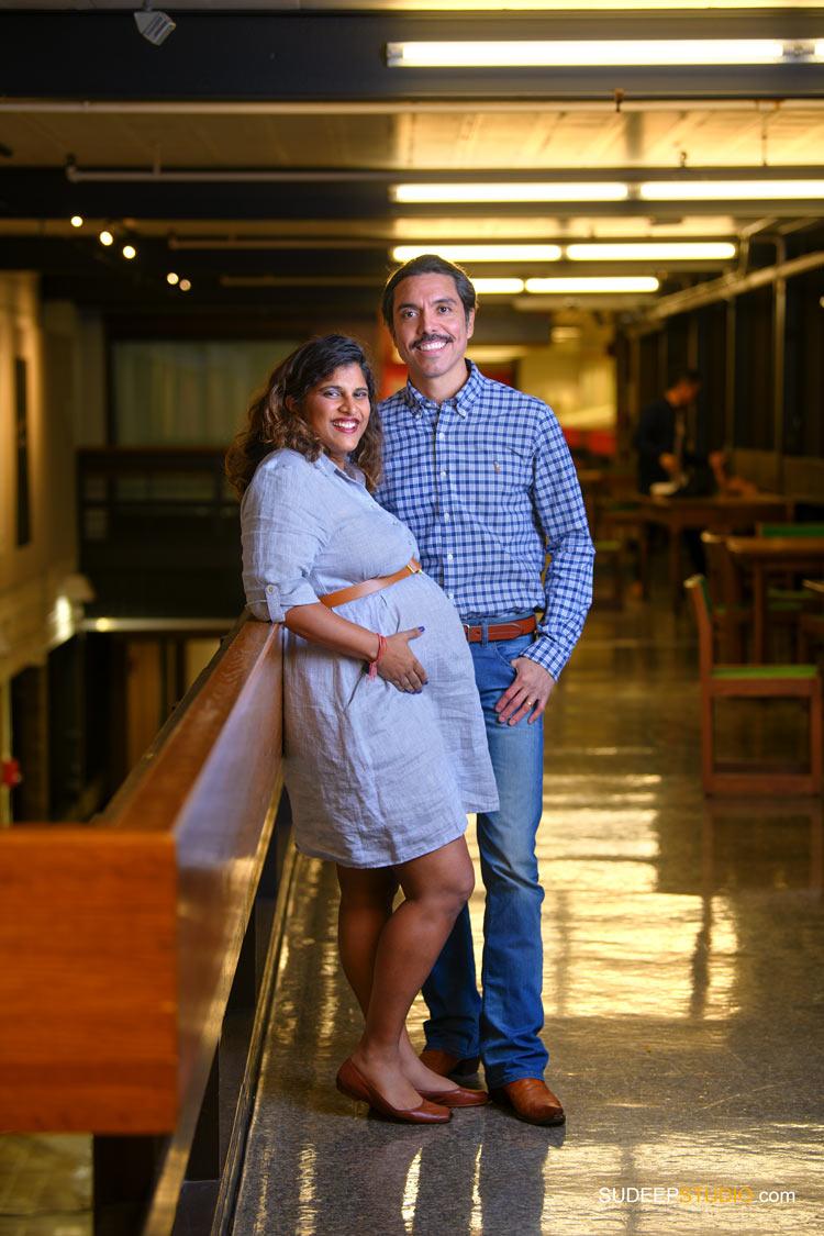 Maternity Photography in Urban Warehouse by SudeepStudio.com Ann Arbor Maternity Portrait Photographer