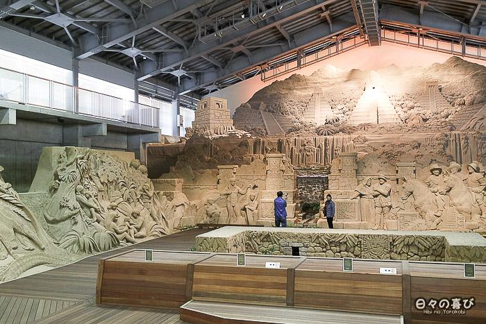 espace central musée du sable