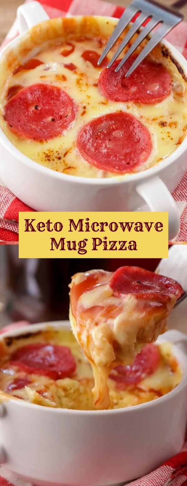 Keto Microwave Mug Pizza