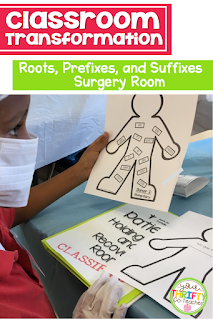 This Surgery Room Transformation is a fun and engaging way to evaluate students understanding of Roots and Affixes. It is a rigorous and enriching activity that encourages students to use higher order thinking skills in order to complete the tasks assigned.
