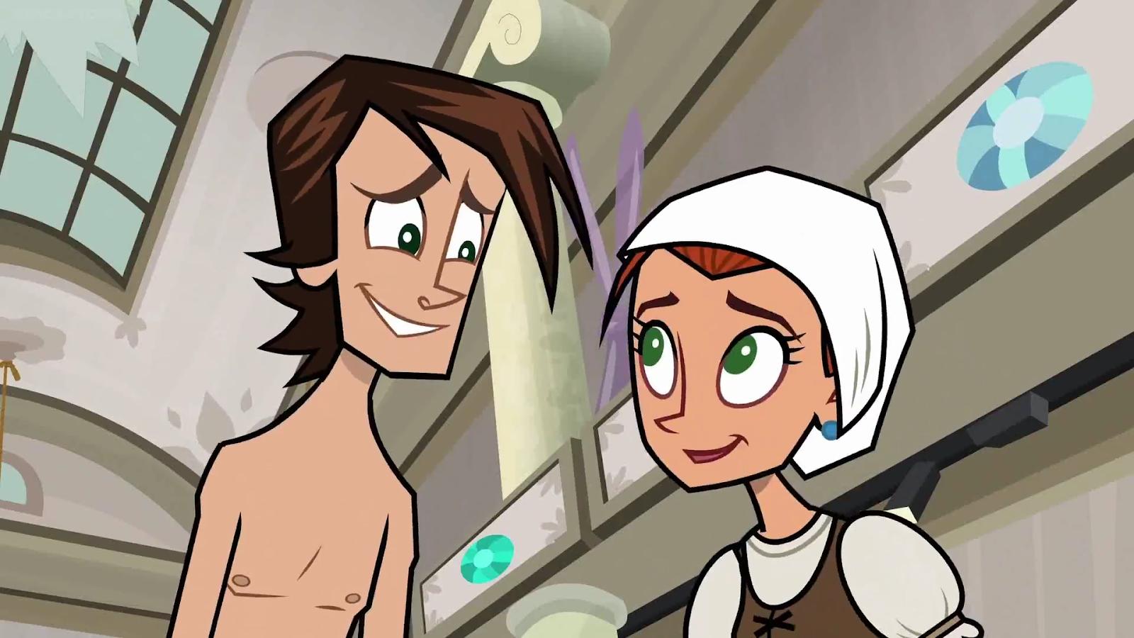 Cartoon Shirtless Boys: Zeke in his underwear