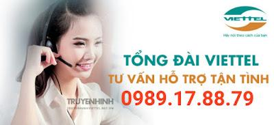 Lắp đặt Internet cáp quang và Truyền hình số Viettel miễn phí - 0989178879