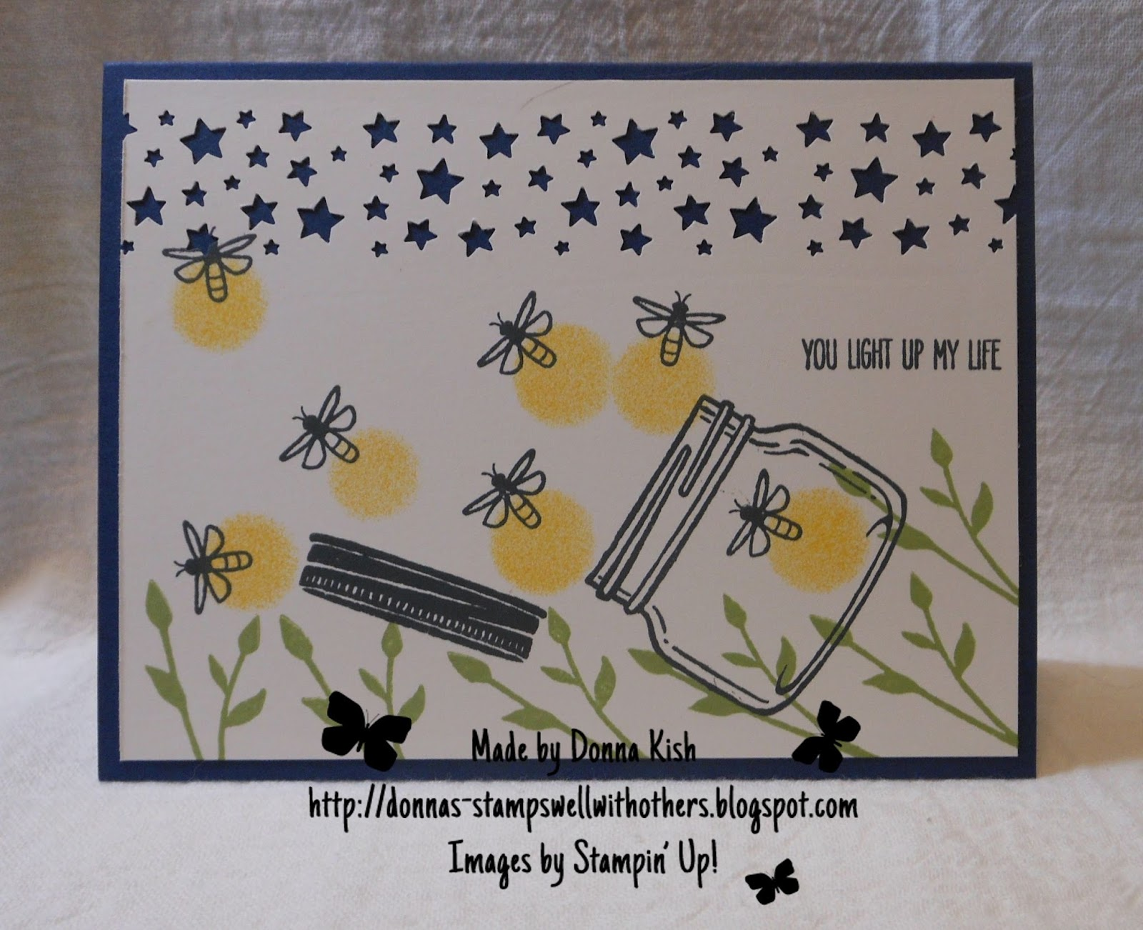 Stamps Well With Others Fly Away Firefly Jar