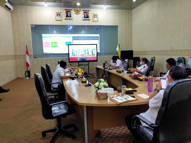 Relokasi Anggaran Penanganan Virus Corona, Pemprov Lampung Lakukan Koordinasi Dengan Mendagri