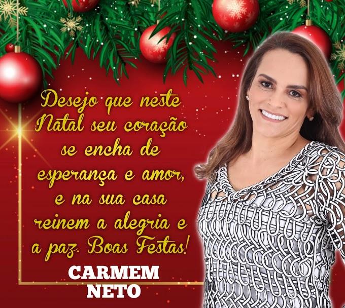 Mensagem da ex-prefeita Carmem Neto.