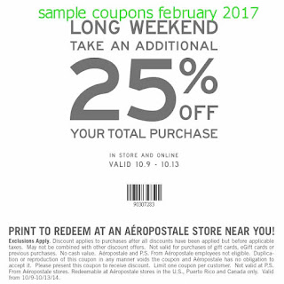 Aeropostale coupons february 2017