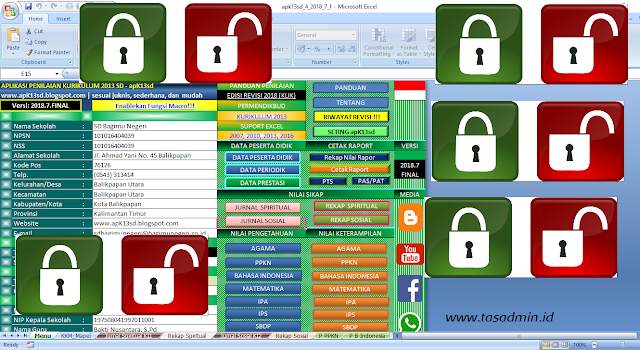 Password unprotect aplikasi raport k13 SD