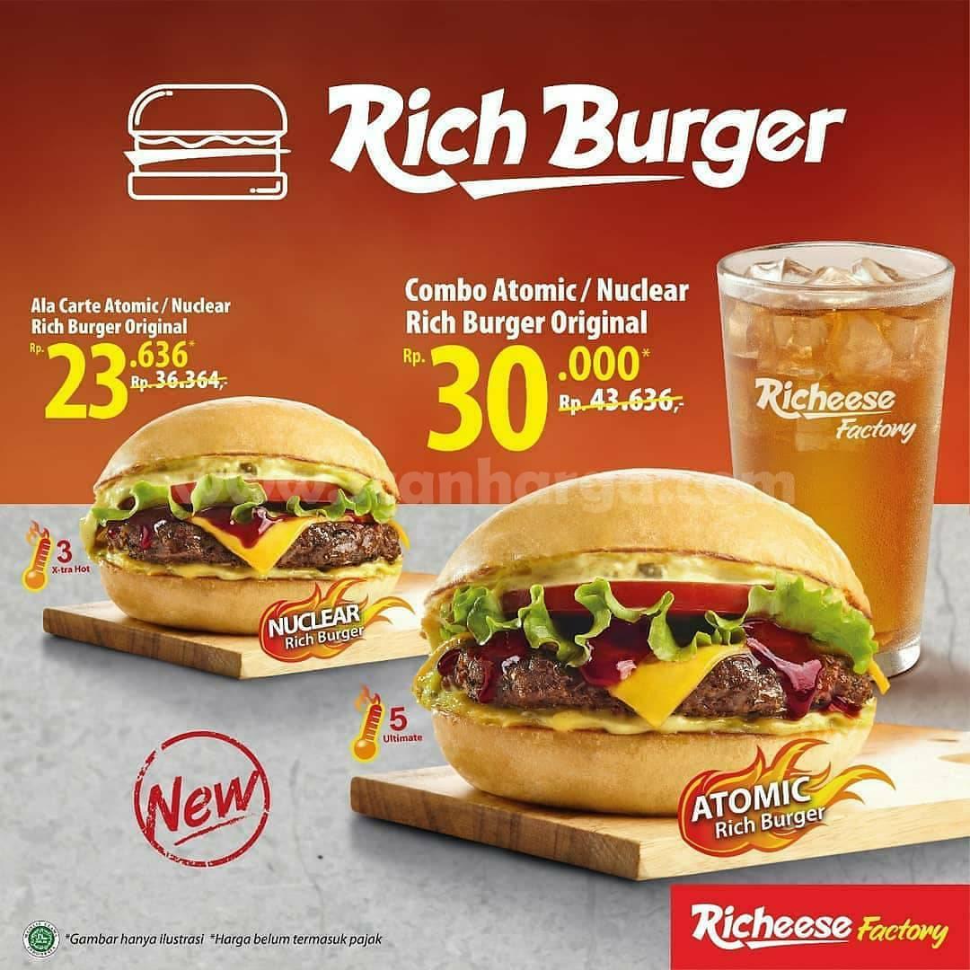 Richeese Factory Promo Rich Burger – Special Price untuk mulai dari Rp 23.636
