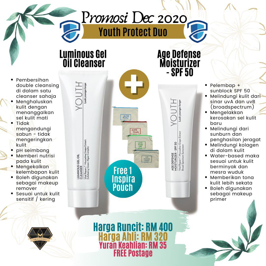 Promosi Shaklee Disember 2020: Youth skincare
