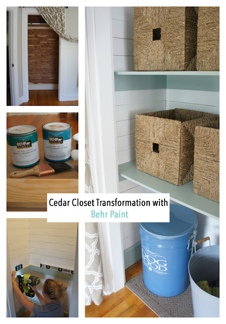 Fireplace and Closet Makeover with Behr Paint!