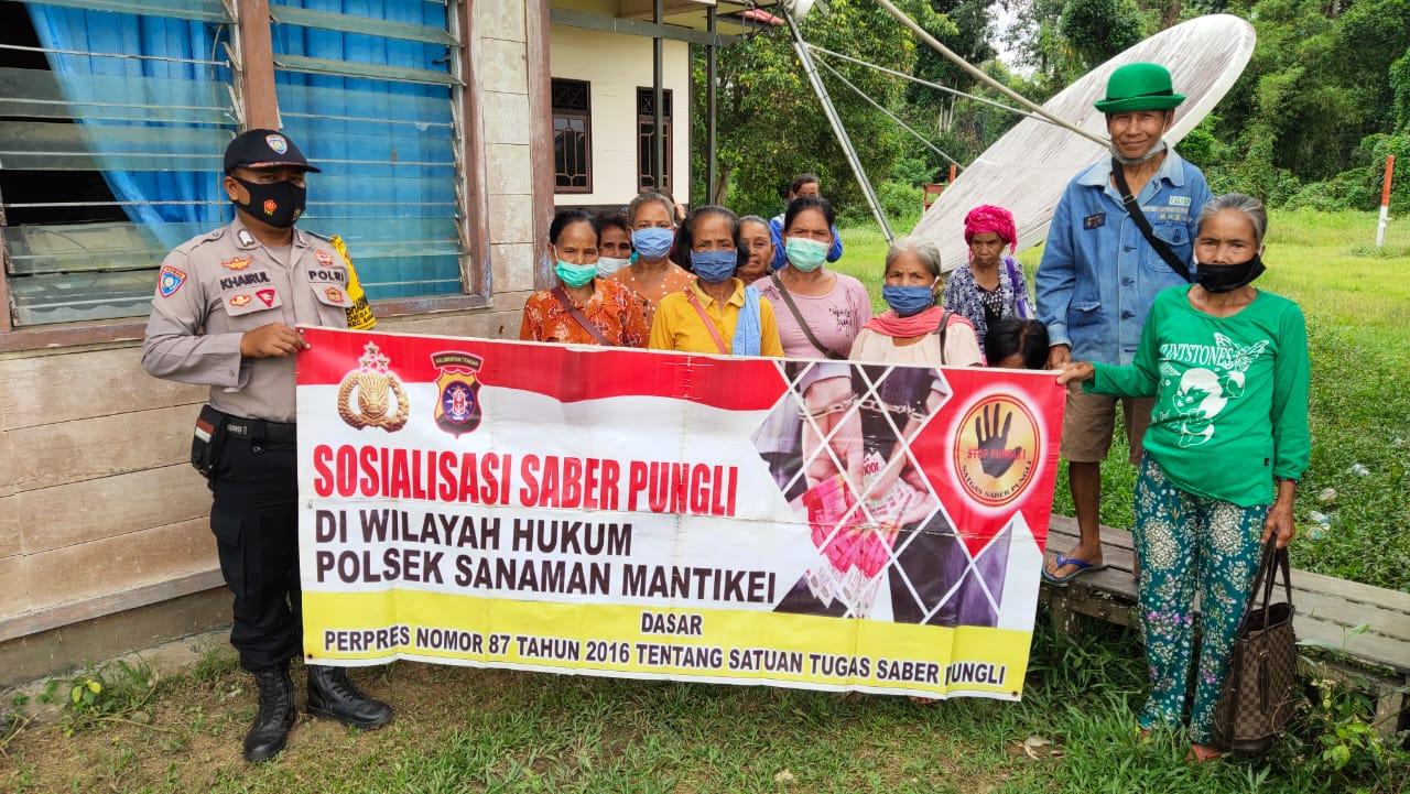Edukasi Masyarakat, Personel Polsek Sanaman Mantikei Sosialisasi Saber Pungli