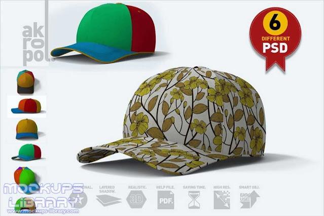 3D Cap Mockup Design