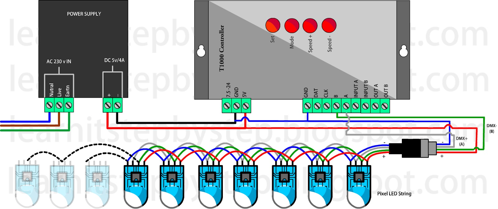 hight resolution of wiring of the t 1000s controller method 5