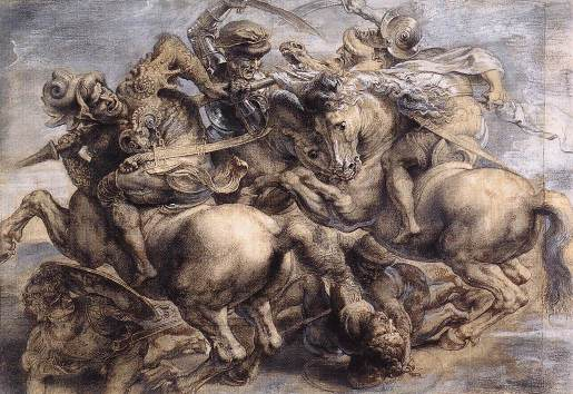 The Battle of Anghiari by Rubens (after Leonardo)