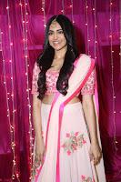 Adaa Sharma in White Pink Saree at Zee Telugu Apsara Awards 2017 25.JPG